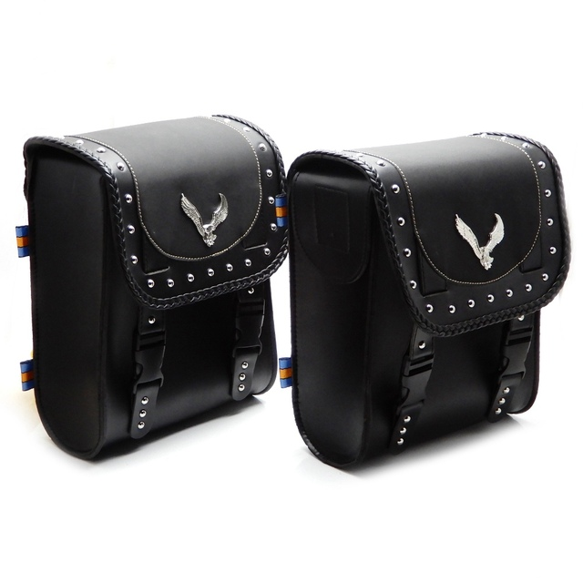 Universal Motorcycle Luggage Front Fork Tool Bag Leather Bag