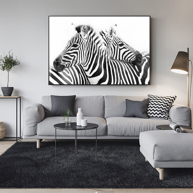 Black And White Line Canvas Art Paintings On The Wall Abstract Zebra Animals Wall Posters And Prints Cuadros Pictures Home Decor