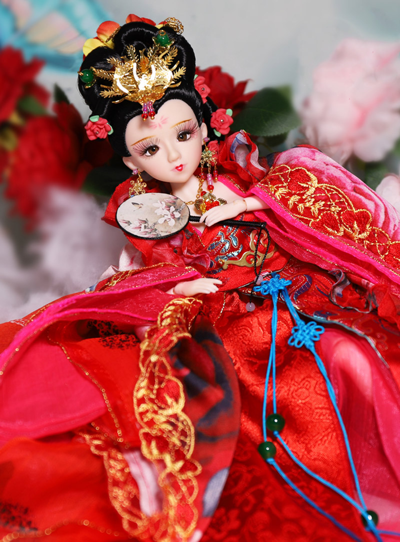 35CM Collectible Ancient Chinese Dolls The Four Beauties - Yang Guifei Doll Vintage Tang Dynasty Dolls Girl Toys Gifts35CM Collectible Ancient Chinese Dolls The Four Beauties - Yang Guifei Doll Vintage Tang Dynasty Dolls Girl Toys Gifts
