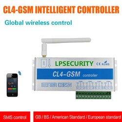 Smartphone app 4 CANALI GSM apri regolatore di interruttore di telecomando per porta serratura del cancello di casa elettrodomestici server