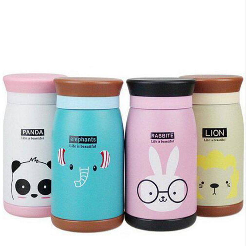 2016 New Arrival Cartoon Bottle Stainless Steel Thermocup Vacuum Thermal 250ml/350ml Funny Gift