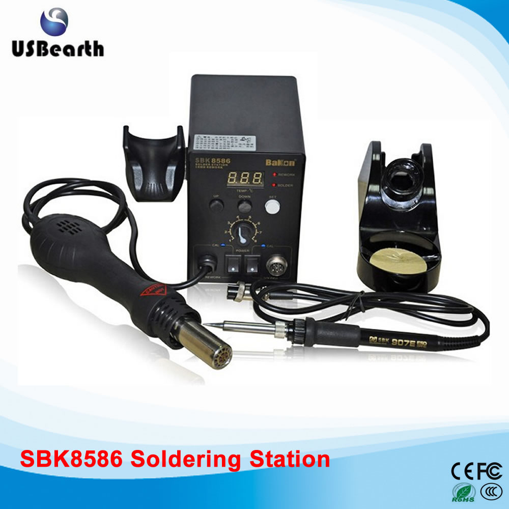 2 in 1 SMD Hot Air Soldering Iron Station(SBK8586) Soldering station Welding machine, free tax to Russia shuttle star sp380iitouch screen hot air bga rework station sp 380ii free tax to russia