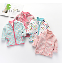 SVELTE Spring Fall Winter for Children Kids Girls Cute Soft Polar Fleece Jacket Coat Outerwear Cardigan  Clothes Sweatshirt