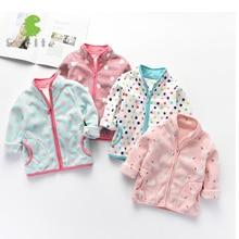 बच्चों के लिए SVELTE स्प्रिंग पतन शीतकालीन बच्चों की लड़कियां प्यारा शीतल ध्रुवीय बेड़े जैकेट कोट बाहरी वस्त्र कार्डिगन कपड़े स्वेटर