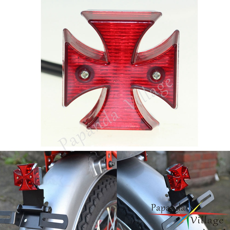 Dc 12v Universal Led Motorcycle Quads Maltese Cross Tail Brake Lamps Rear Lights Attractive Fashion Atv,rv,boat & Other Vehicle Electric Vehicle Parts