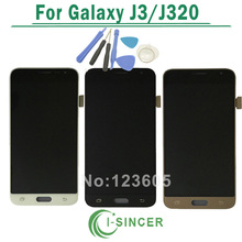 For Samsung Galaxy J3 J320 LCD Display With Touch Screen Digitizer Assembly Blue White Gold + Tools Free Shipping