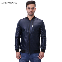 Men's Autumn Winter Leather Jacket Motorcycle Leather Jackets Male Business Casual Coats Brand New Clothing De Couro Coat M-5XL