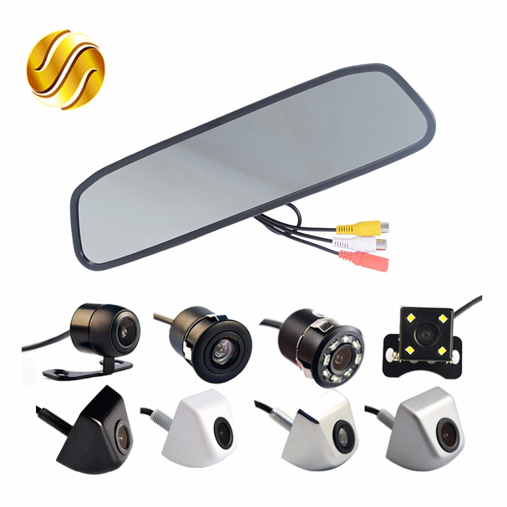 car monitor car rear view camera auto parking system waterproof rear view. Black Bedroom Furniture Sets. Home Design Ideas