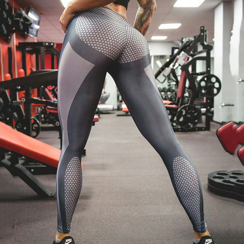 Buttocks Yoga Sport Tracksuits Tights Fitness Women Quick-Drying Polyester Compression Pants Sportswear