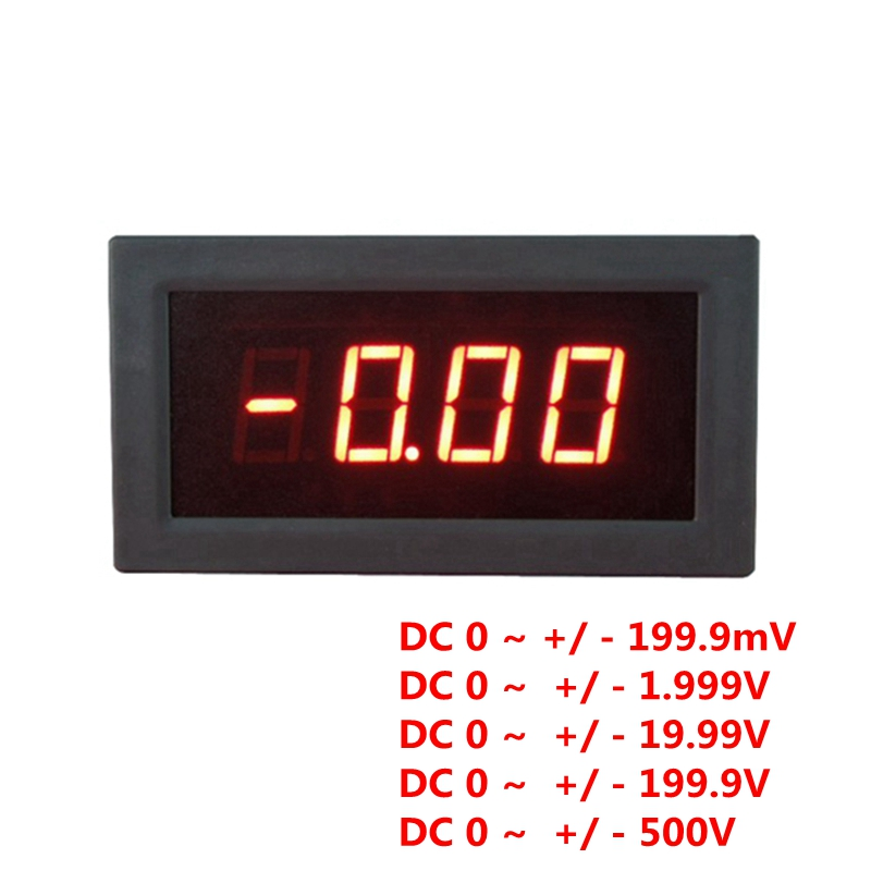 LED Display Digital High Accuracy DC Voltmeter Voltage Meter Monitor Positive Negative Voltage Tester