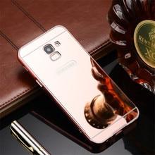For Samsung Galaxy J6 2018 EU J600 case Luxury Mirror Aluminum Back Cover Metal Plating Frame Phone Shell