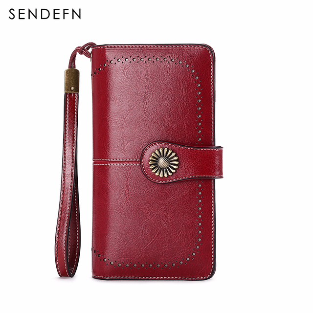 Women Clutch Leather Wallet