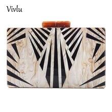 купить Evening Clutch Bag Fashion Luxury Handbag for Women Acrylic Material 2 Colors BG-017 дешево