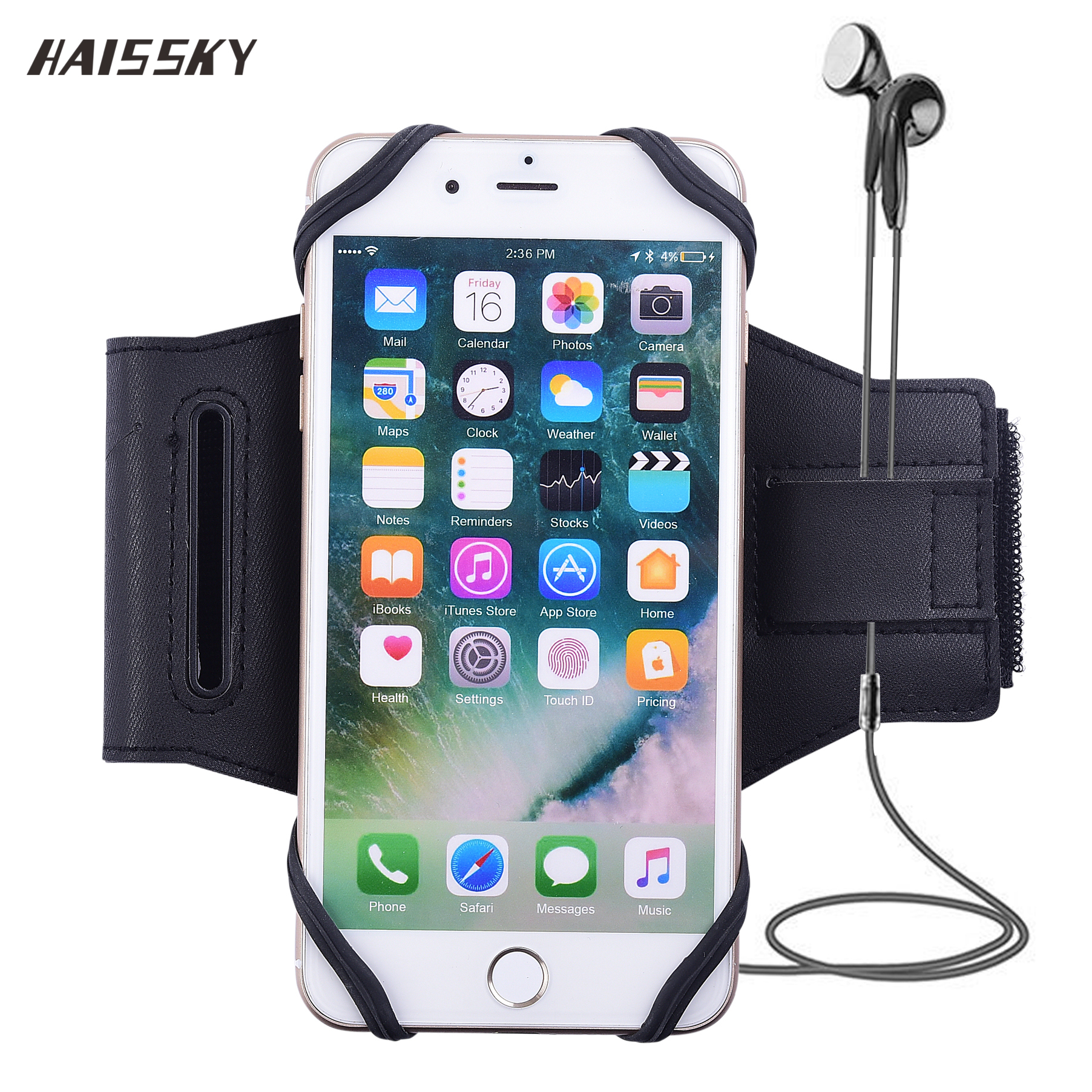 HAISSKY Sport Armband Case Universal For iPhone X 8 7 Plus 6 6s 5s SE Redmi 5 plus Samsung S9 Running Fitness Brassard Cover