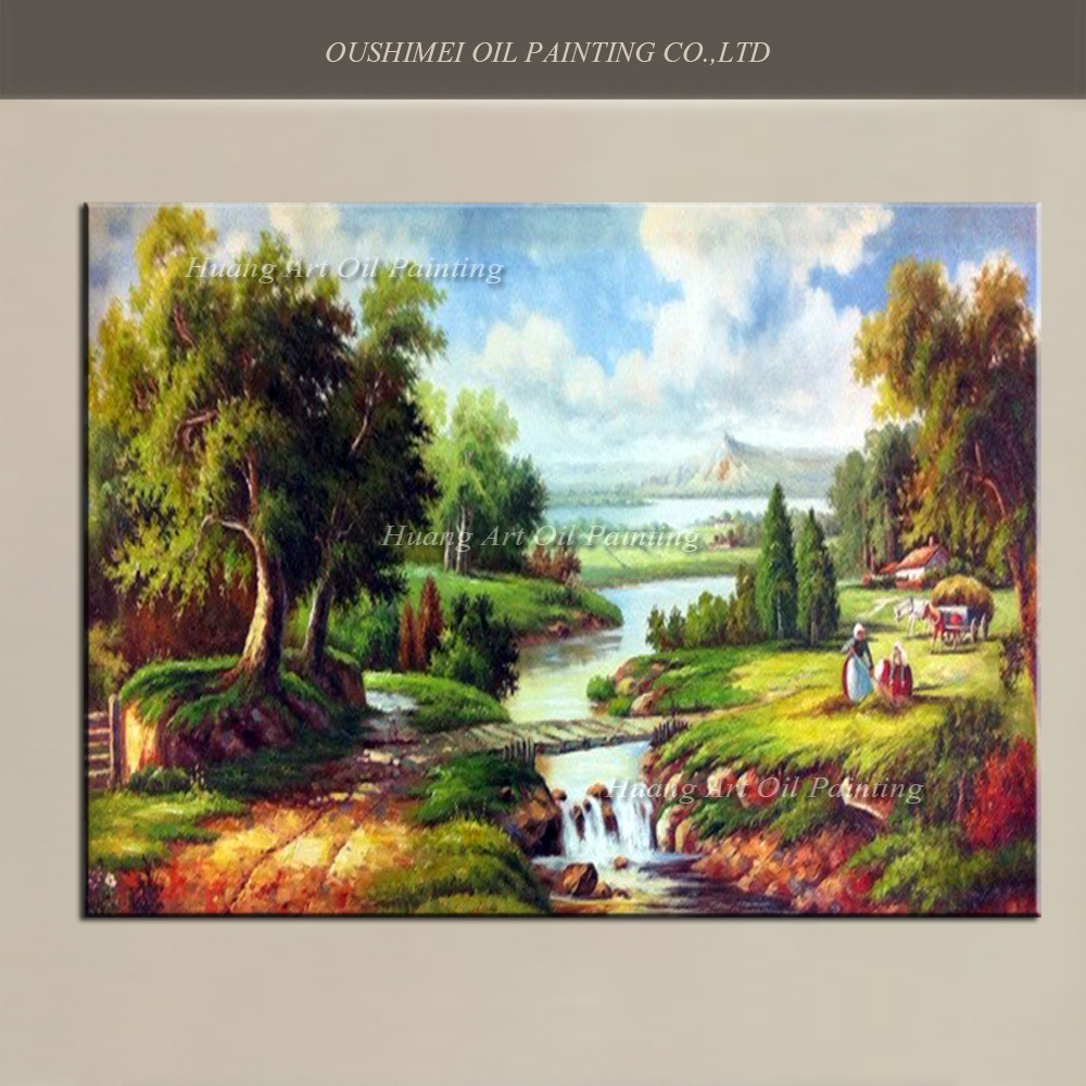 Oil Painting For Living Room Hand Painted Europe Canvas Oil Painting Classical Landscape