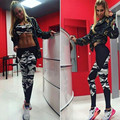 2017 Fashion Camouflage splice harajuku fitness legging pants female clothing slim athleisure leggings elastic push up leggins