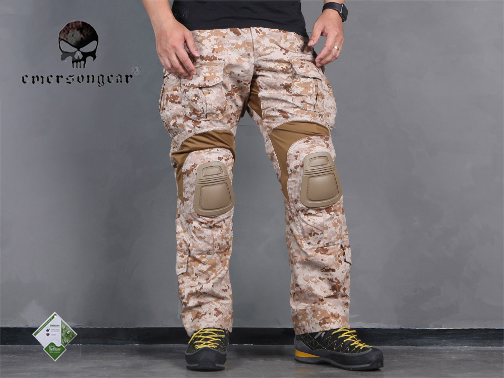 Männer Military Airsoft Bdu Hosen Kampf Emerson Tactical Gen3 Hosen Mit Knie Pad Aor1 Em7026 In Den Spezifikationen VervollstäNdigen Sport & Unterhaltung Hosen