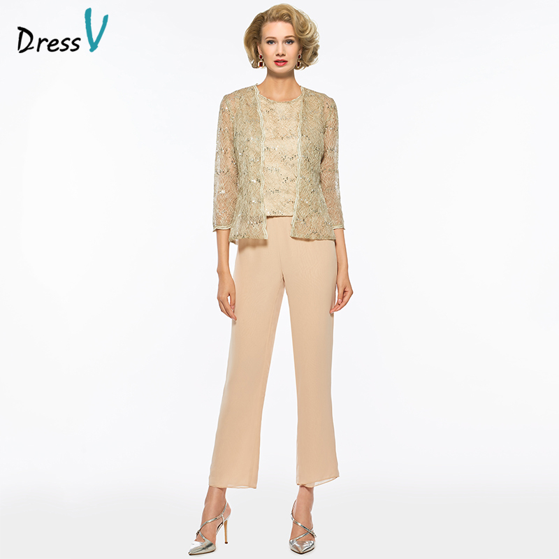 Dressv Long Mother Of The Bride Dress Pants Suit Sheath