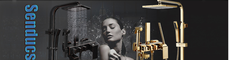 HTB1CkJDUgTqK1RjSZPh760fOFXa2 Senducs Digital Bathroom Shower Set Fashion White Gold Shower Series Quality Brass Bath Shower Faucet Temperature Shower Set