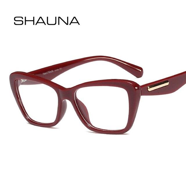SHAUNA Retro Cat Eye Eyeglasses 4