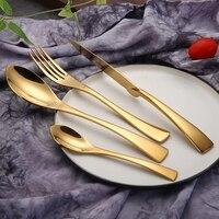 4 Pcs 18 10 Stainless Steel Flatware Set Cutlery Set Kitchen Utensil Set Fork Knife Scoops