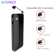 10000mAh LCD Digital Display Wireless Charger For Huawei/Xiaomi Portable Power Bank iPhone/Samsung External Battery