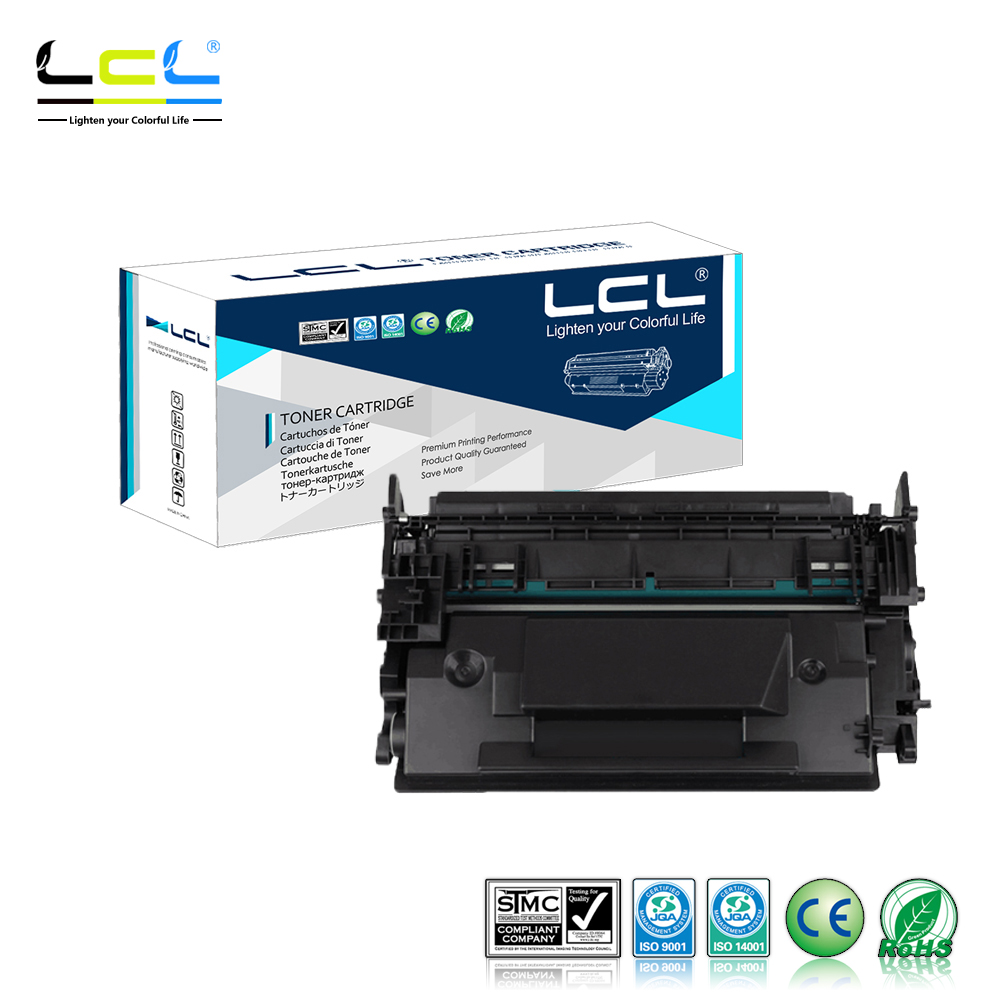 LCL 87A 87X CF287A CF287X 18000 Pages (1-Pack Black) Toner Cartridge Compatible for HP LaserJet Enterprise M506dn/M506x/M506n
