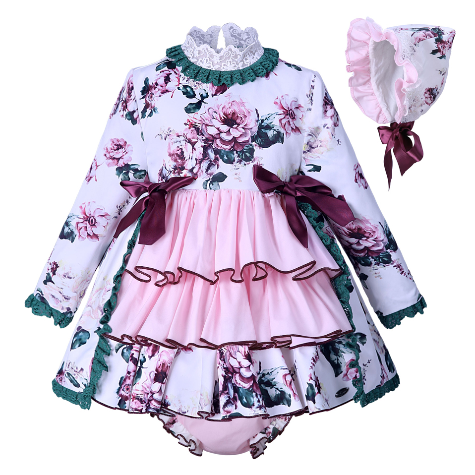 70c33d30686d2 Pettigirl New Autumn kids Dresses For Girls Print Baby Dress With Hat PP  Pants Boutique Girls Clothing G-DMCS007-A153
