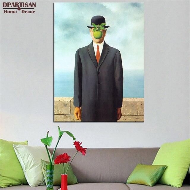 DPARTISAN Rene Magritte der Sohn Mann Giclée wandkunst abstrakte ...