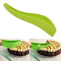 Pastel de tarta cortadora de hoja de novela práctico pequeño pastel cocina artilugio de plástico de cortador herramientas para cocinar y hornear pastel de fresas