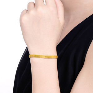 Image 3 - 24K Reinem Gold Armband Echt 999 Solid Gold Armreif Gehobenen Schöne Schmetterling Romantische Trendy Klassische Schmuck Heißer Verkauf Neue 2020