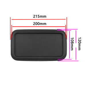 Image 3 - GHXAMP 8inch Flat Bass Passive Radiator Speaker Resonant Diaphragm Rubber sheet iron For 6.5 inch 8 inch Subwoofer 215*120MM 2PC
