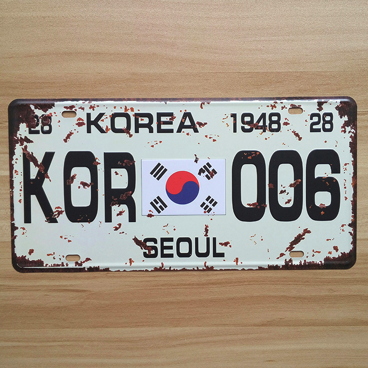 online buy wholesale korea license plate from china korea license plate wholesalers. Black Bedroom Furniture Sets. Home Design Ideas