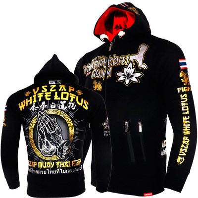 VSZAP Warm Winter Hoodie Pray H Tracksuits MMA Gym Tee Shirt Fitness Sport Men Boxing