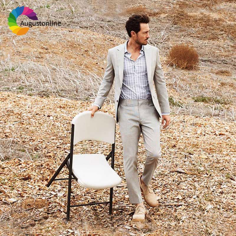 Latest Designs Khaki/Beige Men Suits for Wedding Blazers 2 Piece Jacket Pants Slim Fit Groom Tuxedos Casual Groomsmen Suit
