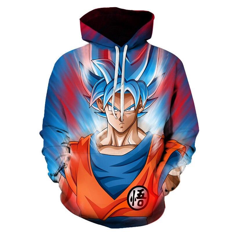 Dragon Ball Z Толстовки Для мужчин 3D печатных Пуловеры для женщин спортивная одежда DragonBall Супер Saiyan Goku черный zamasu толстовки Лидер продаж 6 XL