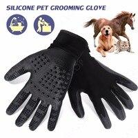 Silikon Pet Grooming Brush dla Psów Kotów Puppy Konie i Zwierzęta Czyszczenia Masaż Narzędzie Do Usuwania Włosów Psa Rękawic Pet Products