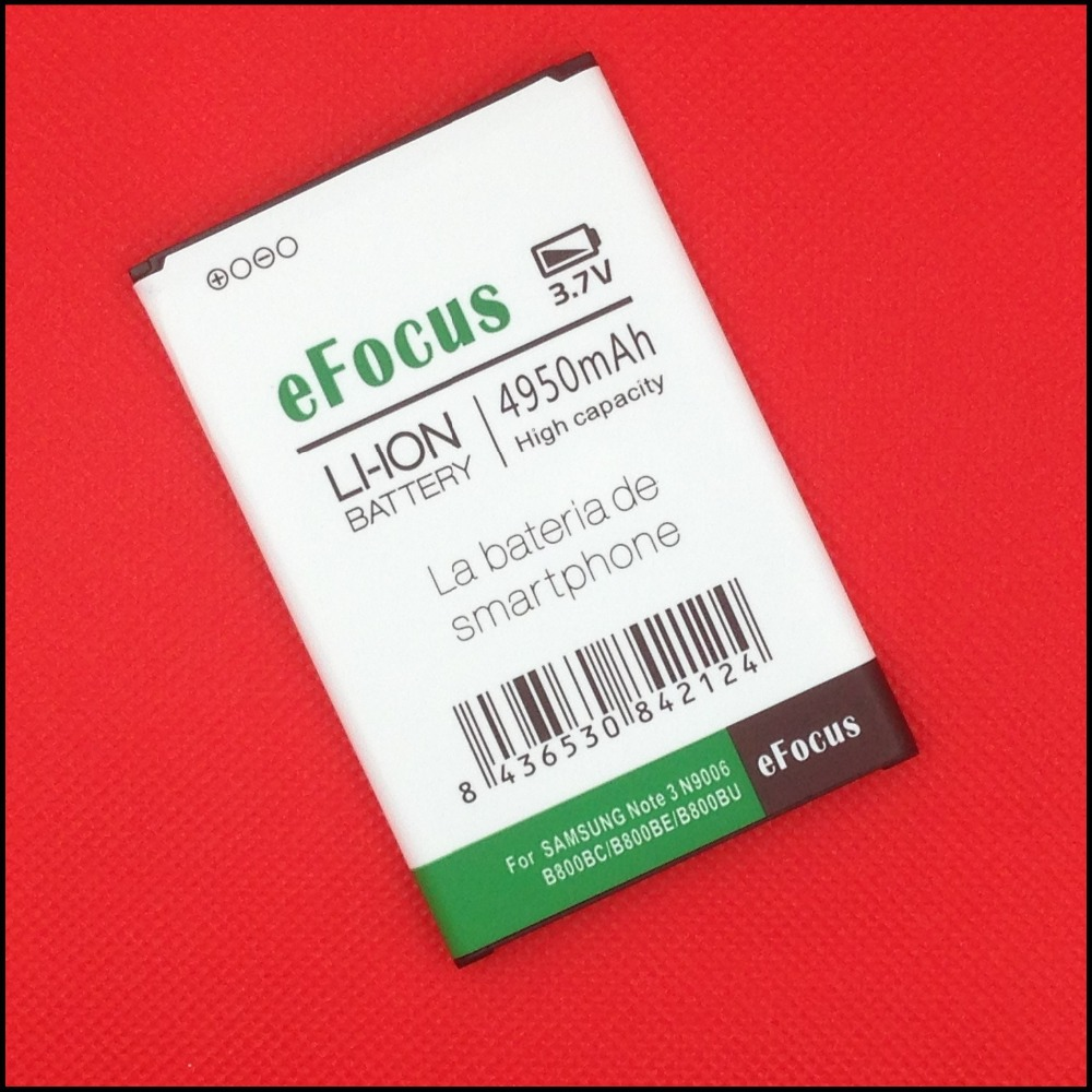 eFocus High Capacity 4950mAh B800BC B800BE B800BU Use for Samsung Galaxy Note 3 N9000 N9002 N9005