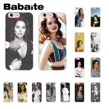 Babaite Lana Del Rey TPU Soft Silicon Telefoon Cover voor iPhone X XS MAX 6 6S 7 7plus 8 8Plus 5 5S XR 10 Case Coque Shell(China)
