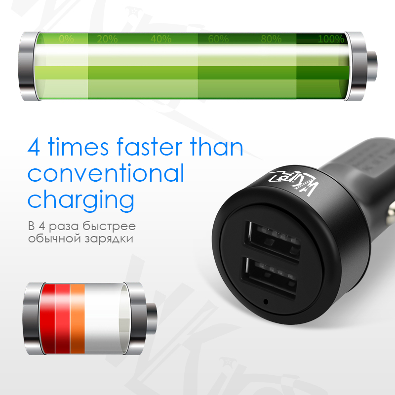VVKing 3 0A Max Dual USB Intelligent Output Car Charger Universal Phone USB Car Charger for HuaWei Xiaomi iPhone Samsung iPad LG in Car Chargers from Cellphones Telecommunications