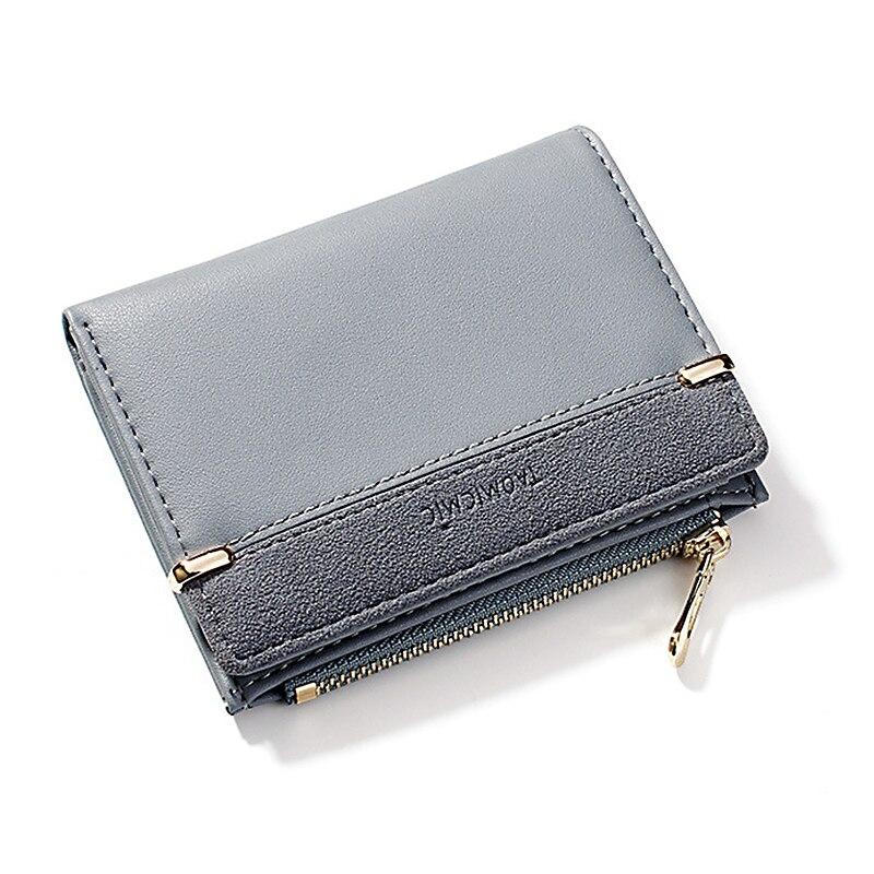 Женский кошелек, короткий женский кошелек для монет, модные кошельки для женщин, держатель для карт, маленький женский кошелек, Женский мини-клатч на застежке для девушек - Цвет: Синий