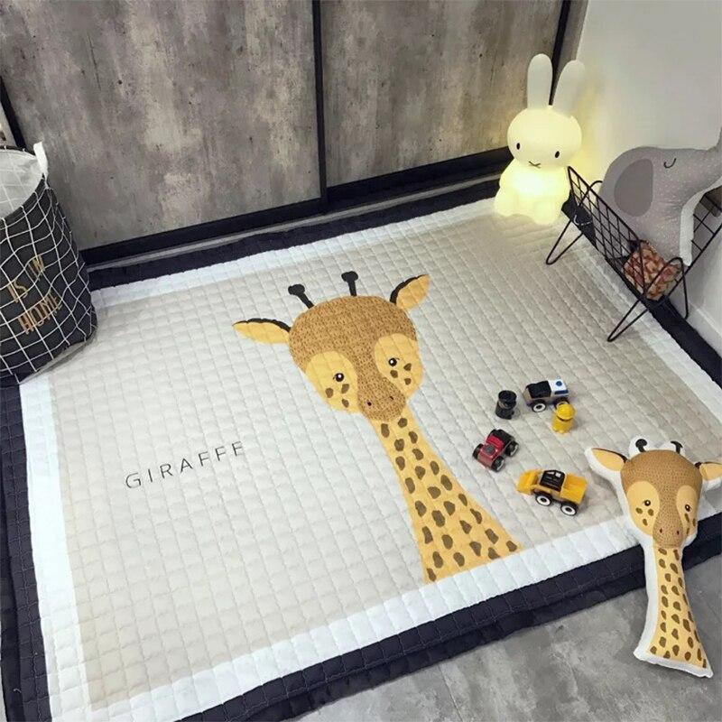 Ins Nordic Stijl Nieuwe Verdikking Matras Cartoon Bed Matras Tatami Spons Mat Yoga Mat Baby Kruipen Mat