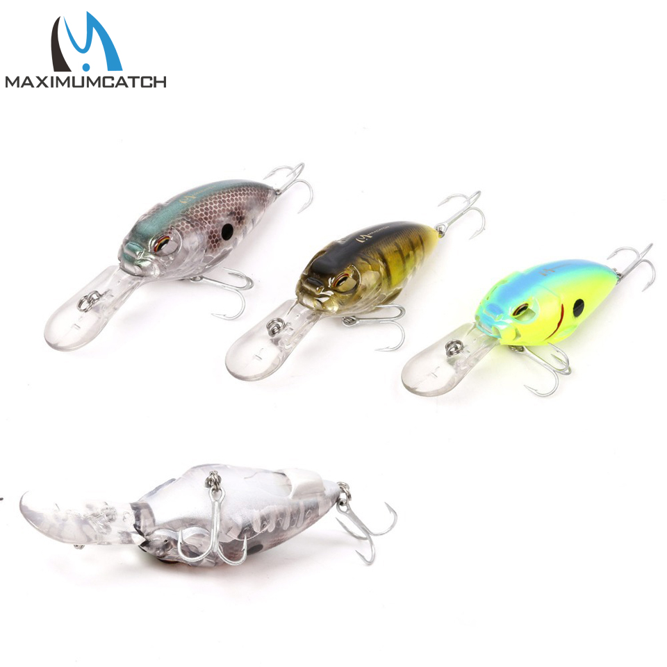Maximumcatch 1 PC Crank Bait Fishing Lures With VMC Hooks Life-like Floating Fishing Lures Artificial Bait Crankbait