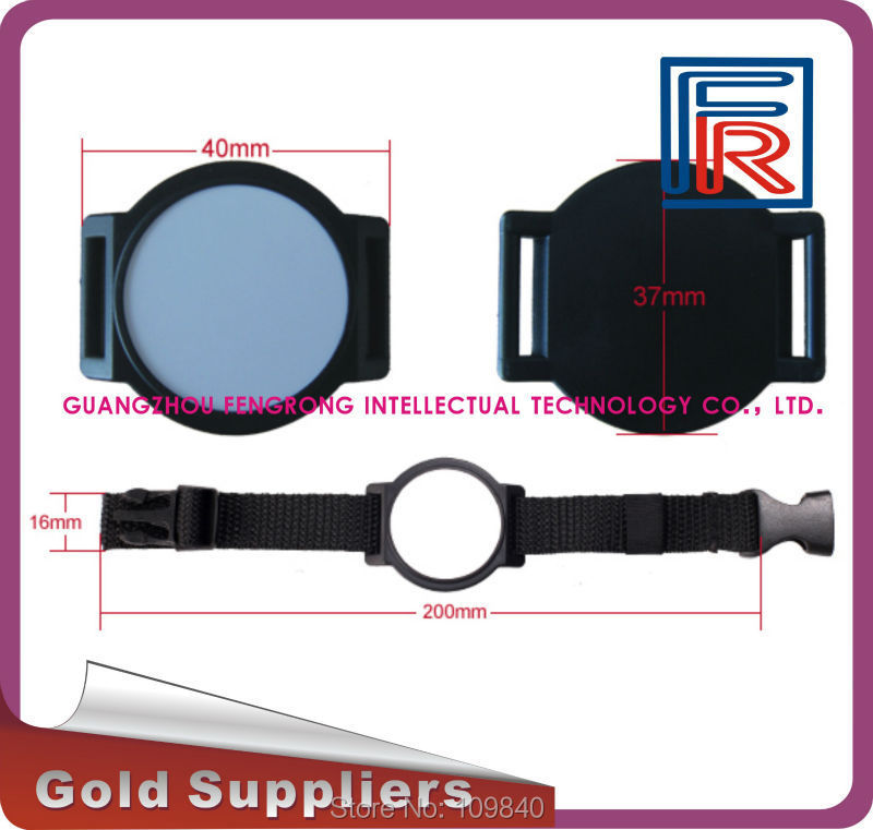 125KHz Nylon RFID Wristband/Bracelet Read-only with EM chip for access control/Event/E-ticket survival nylon bracelet brown