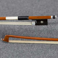 950V 4/4 Size Tourte Master Pernambuco VIOLIN BOW Ebony Frog Pure Silver Fitted Natural White Horsehair Violin Parts Accessories