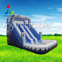 Inflatable water slide with a small pool for kids