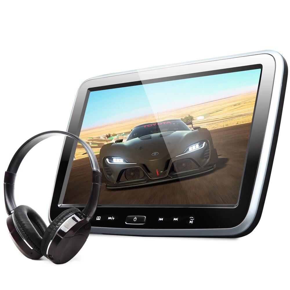Touch Button Design Single 10.1 Car Headrest DVD PC Car DVD Player Headrest Car Monitor with Single IR Headphone Included