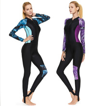 Wetsuit Women Diving Suit Lycra Rashguard One-piece Long Sleeve Swimwear Fullbody Suit Surfing Windsurfing Suit Sun Protection
