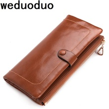 Weduoduo Brand Men Wallets 100% Genuine Leather Purse with Credit Card Holder Male Wallet Fashion Coin Pocket Photo Holder цены