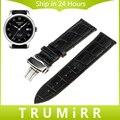 16mm 18mm 20mm 22mm 24mm Calf Genuine Leather Alligator Grain Watch Band for Tissot 1853 Wrist Strap Bracelet Black Brown Red